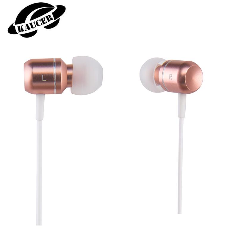 [KAUCER]n-ear Earphoness New Rose Gold U3 3.5mm Earphones HIFI Metal Earphoness Sport with microphone for Iphone Earphoness(China (Mainland))