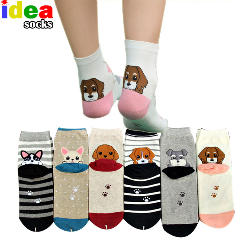 Japanese Cute Puppy Socks In Winter Heel Stereo Cartoon Dog Chaussette Men Women Neutral Couple Cotton Middle Tube Socks wz0020(China (Mainland))
