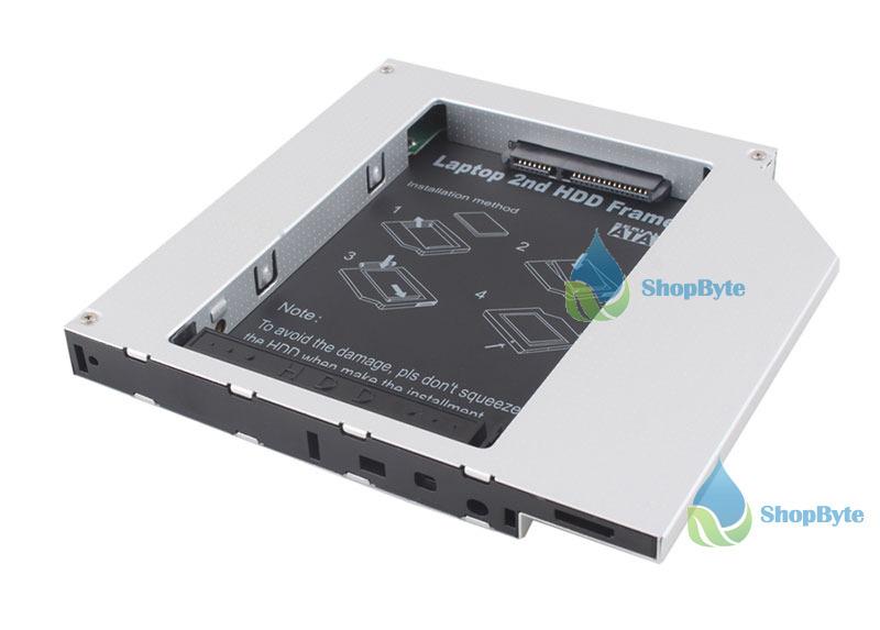 topgood Fashionable! 12.7mm Optical Bay 2nd SATA HDD Hard Drive Caddy Module Tray Adapter PATA IDE #1 Top rated(China (Mainland))
