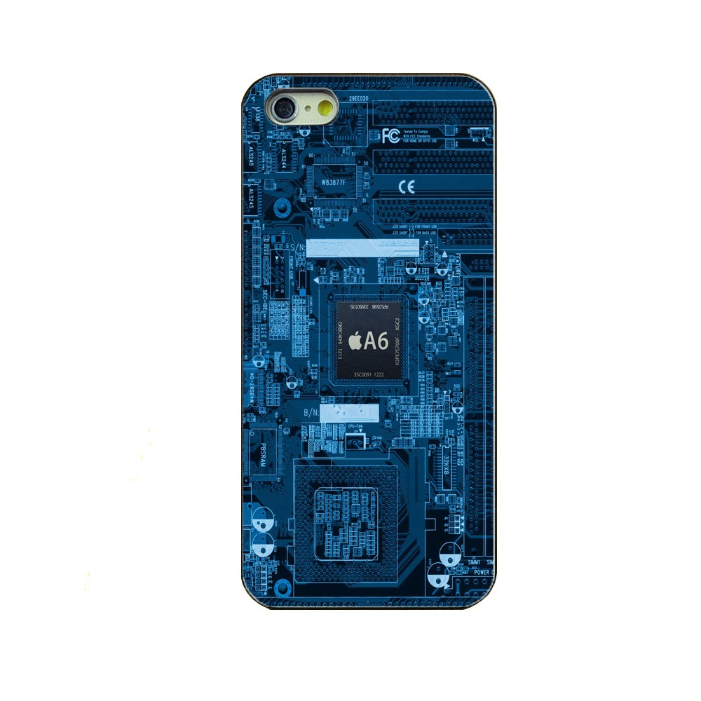 phone case the latest Chip Internal Board flag black hard cover protective shell for iPhone 4/4s/5c/5/5s/6/6s/6plus/6splus case