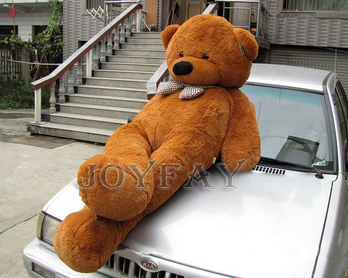 Giant Jumbo Soft 91'' 230 cm 2.3m Brown Teddy Bear Stuffed Plush Animals Toy Best Valentine Gift For Lovers Girlfriend(China (Mainland))