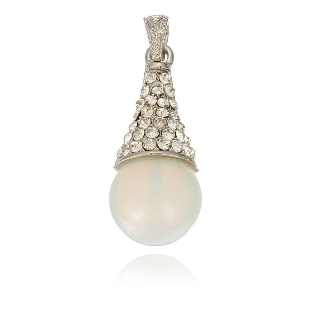Round Opal Bead Gemstone Pendant Rhinestone Alloy Fashion(China (Mainland))