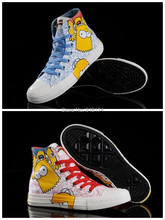 2014 The Simpsons New logo star canvas shoes for unisex men and women casual sneakers shoes all size(China (Mainland))