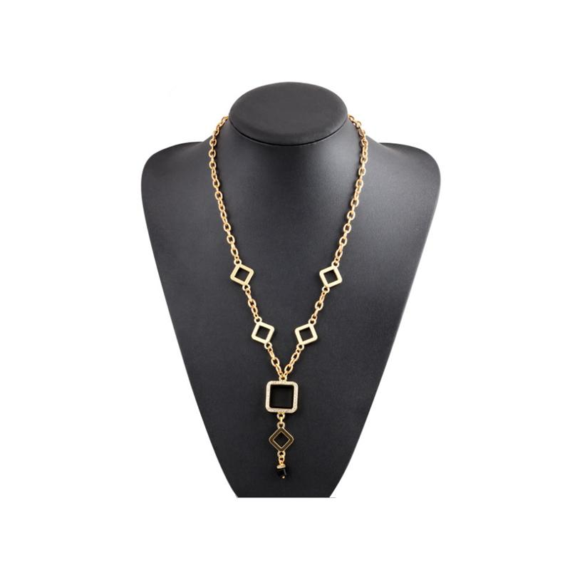 2015 Wish Necklaces with Glass Floating Lockets Alloy Geometric  Statement Necklace gold plated necklace N150865<br><br>Aliexpress