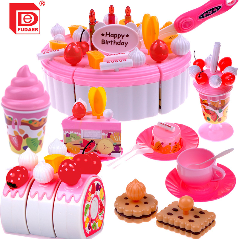 ... 73 kitchen utensils fruit birthday cake creative suite assembled toys