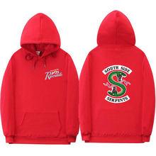 Riverdale Hoodie Sweatshirt Plus Size South Side Serpents Streetwear Tops Spring Hoodies Men Women Hooded Pullover Tracksuit(China)