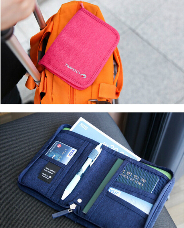 18*13.2*13cm Multifunction document bag passport holder card storage bag waterproof protective sleeve folder purse for men women(China (Mainland))