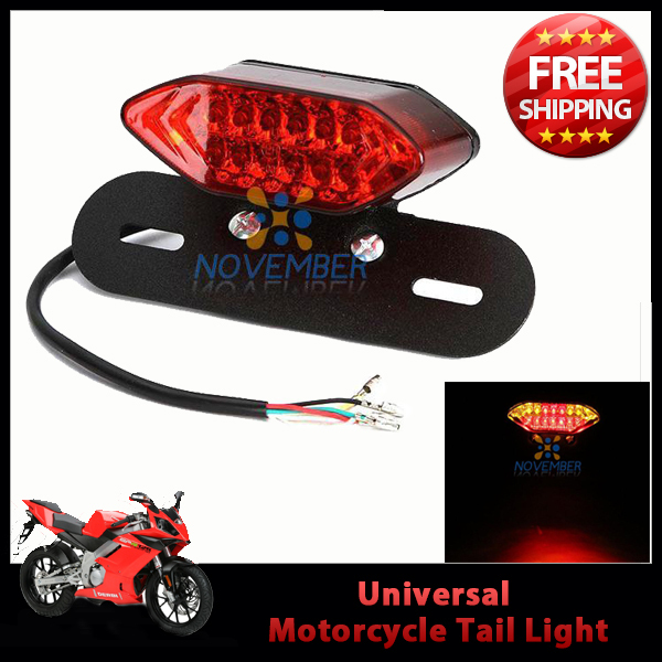 Motorcycle Street Bike LED Brake Running Turn Signal License Plate Tail light Cafe Racer ATV Quad Dual Sports(China (Mainland))