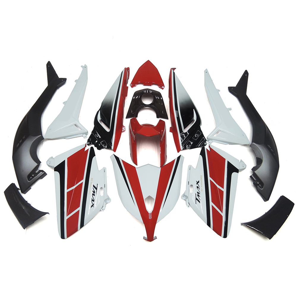 Complete Motorcycle Fairing Kit For Yamaha TMAX T-MAX 530 12 13 14 Injection ABS Plastic Cowlings White Red Body Kit Fittings(China (Mainland))