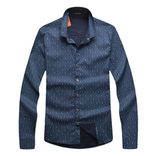 Male shirt long-sleeve autumn and spring men's clothing comfortable straight print gentle shirt free shipping