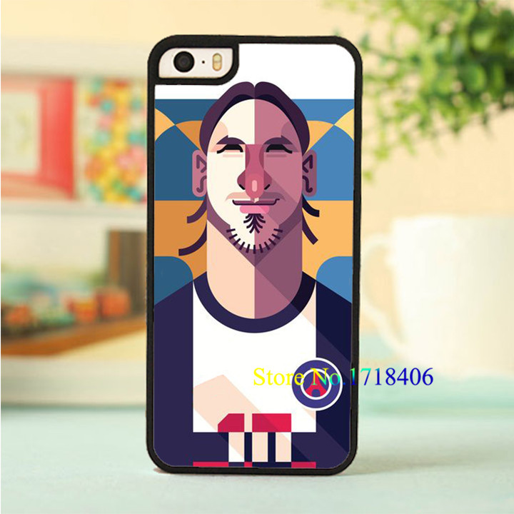 Zlatan Ibrahimovic psg soccer cartoon posteral phone cell case cover for iphone 4 4s 5 5s 5c SE 6 6s & 6 plus 6s plus #3579(China (Mainland))