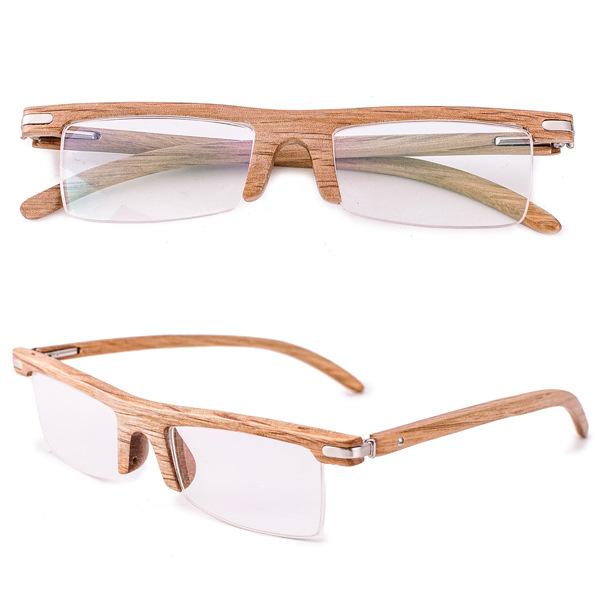 Luxury Mens wood frame flat mirror Reading Glasses Fashion Eyewear 2016 Women Mirror Lenses Optional Free Shipping M0124(China (Mainland))