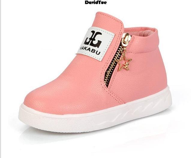 Новое поступление Детей обувь мальчиков девушки горячей моды Мартин сапоги девушки сапоги дети детские плоские туфли девушки парни осень обувь 4 цвет