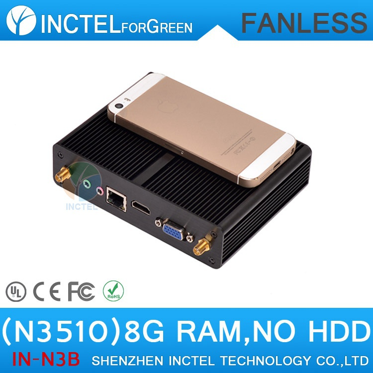 Intel Pentium N3520 Quad Core 2.166Ghz windows xp computer,fanless gaming pc with low power 8G RAM only(China (Mainland))