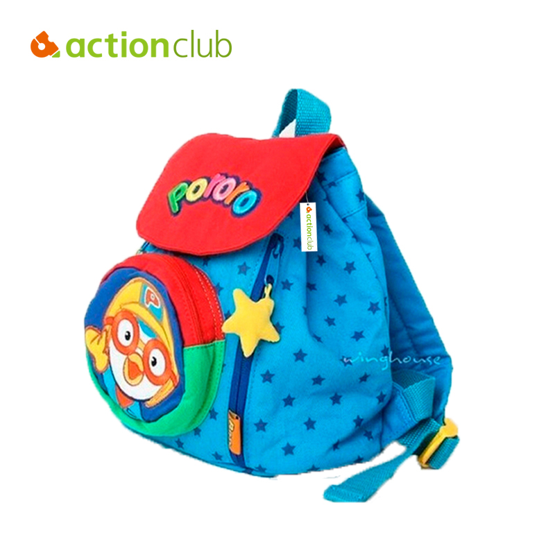 Actionclub Korean Backpack Penguin Pororo Bag Plush Backpack Bags Small School Child Cartoon Backpack For Girls Plush Toys(China (Mainland))