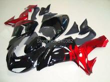 CUSTOM Motorcycle Fairing kit for KAWASAKI Ninja ZX10R 2006 2007 ZX10R 06 07 Red gloss black ABS Fairings set+7 gifts SK38(China (Mainland))