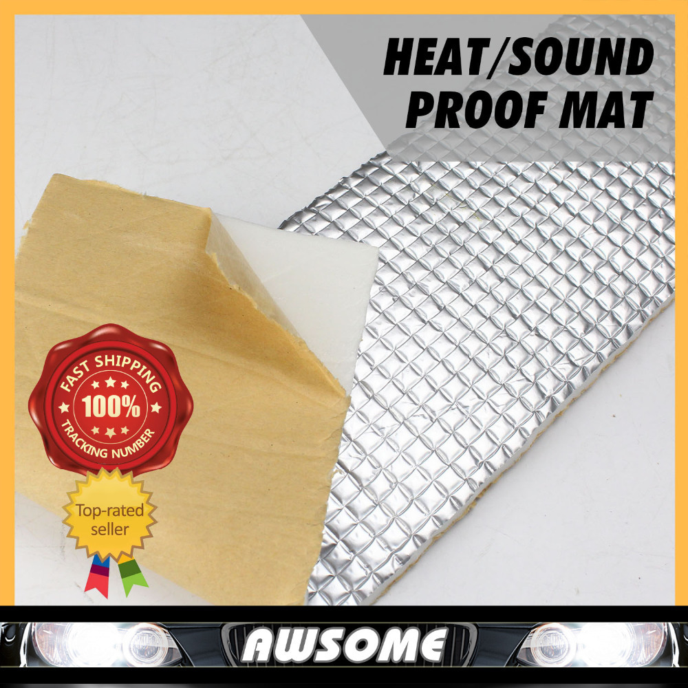 "5Pcs 50cmx100cm 20""x40"" CAR TRUCK Auto Heat SOUND Sound Control Deadener Aluminium Mat For Door Rear Fenders Tailgate Firewall(China (Mainland))"