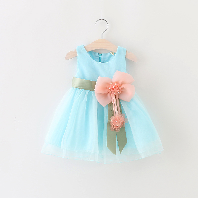 New Big Bow Flower Kids Baby Girl Party Lace Princess Dresses Baby Girl Tutu Dress baby girl Clothes vestidos Infant Dress(China (Mainland))