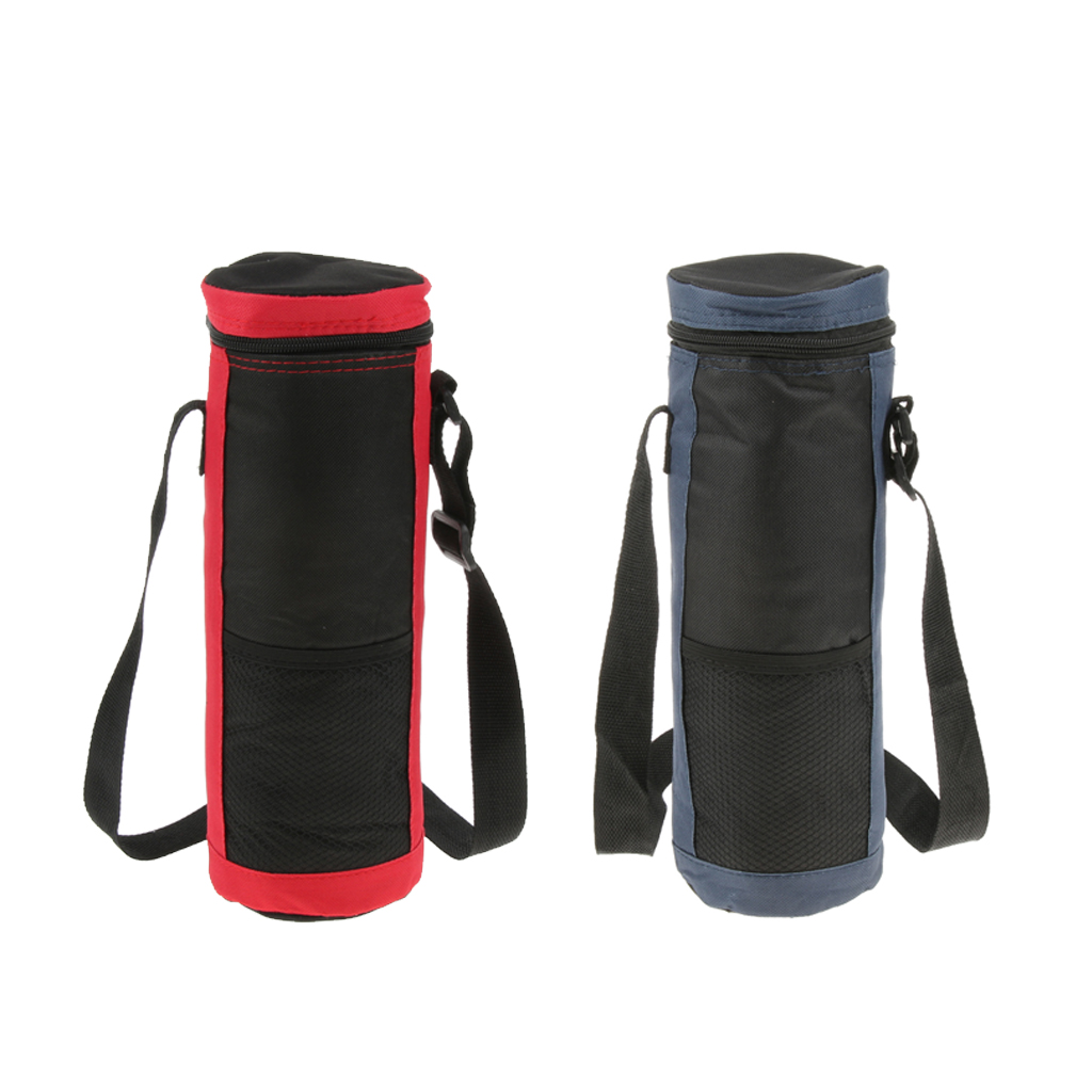 2L Insulated Bottle Drink Wine Carrier Tote Bag With Zipper Travel Picnic Cooler with Strap Long Handle