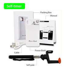 Newest Power Bank Full Set of Power Bank and Selfie Stick , Polymer Battery Charger Free Shipping(China (Mainland))