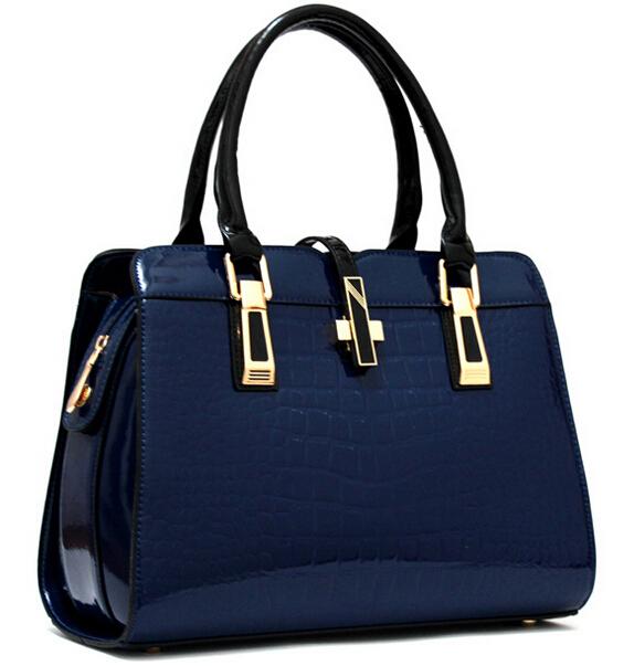 Hot Sale New 2016 Fashion Brand Sell like hot Fashion women handbag brand handbags Patent Leather bags women messenger bag Q5(China (Mainland))