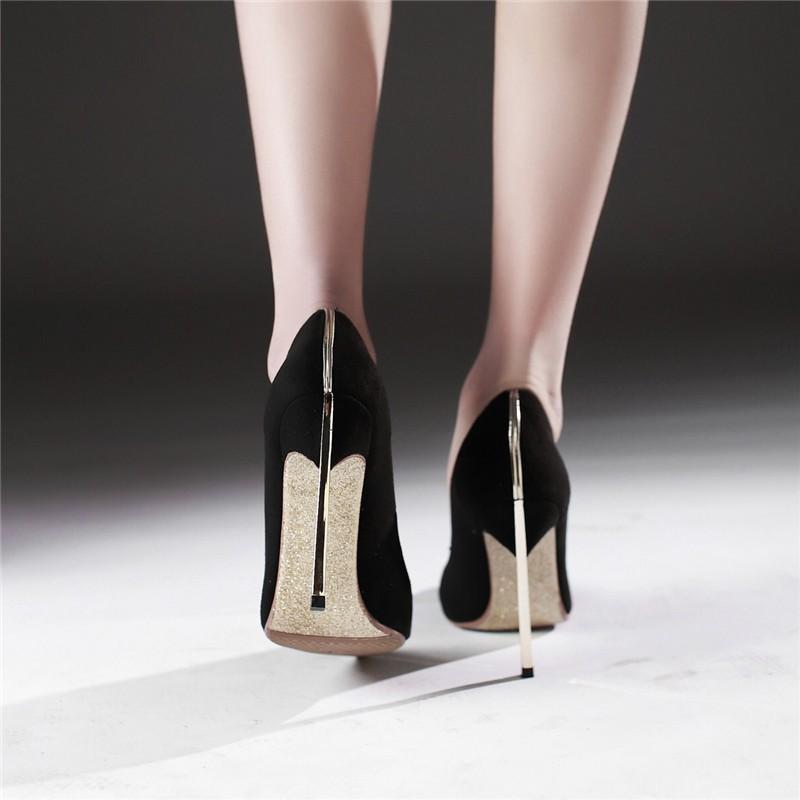 HTB1iBZbLFXXXXbMXVXXq6xXFXXXR - LOVEXSS Womens Size 10 Heels Metal Heel Stiletto Glitter Wedding Pumps Large Size 34 - 43 Black Golden Silver Heels Shoes