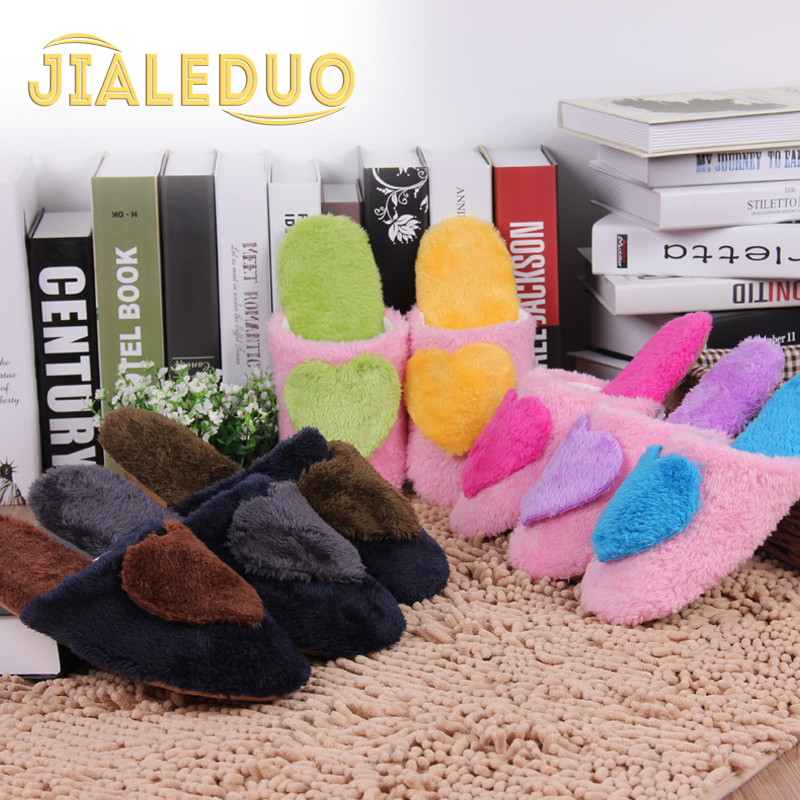 Heart lovers cotton-padded winter home shoes slippers indoor slip-resistant floor warm - ZSG SHOES / JINSUJINKUN FOOD EQUIPMENT CO.,LTD store