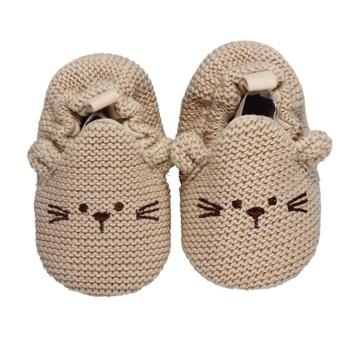 Boys Crochet Handmade Knit Shoes Baby Girls Boys Indoor Soft Bottom Non-slip Cute Dog Shoes11-13cm Crib Shoes Free Shipping 14
