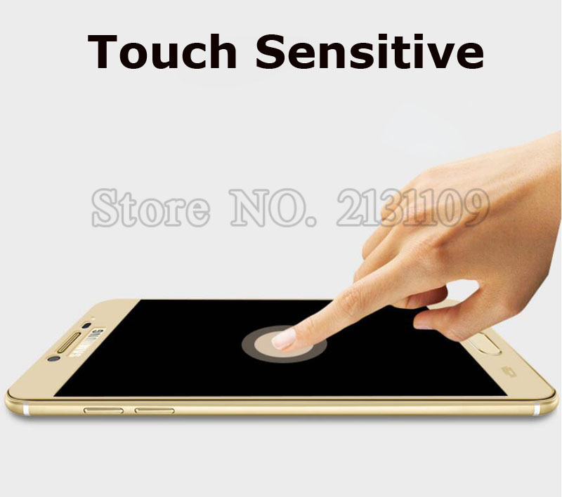 2016 Newest 9H 2.5D Full Cover Color Tempered Glass For Samsung Galaxy C5 C7 A5 A7 A9 2016 Screen Protector