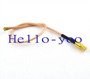Free shipping 10pcs/lot Extension Cord MCX male plug to ufl/IPX female Jack connector pigtail cable RG178 15cm