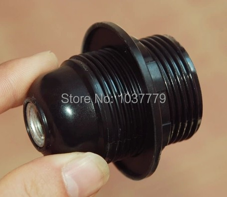 100pcs/lot Bakelite lamp holder E27 black sockets with one ring that suitable for shade(China (Mainland))