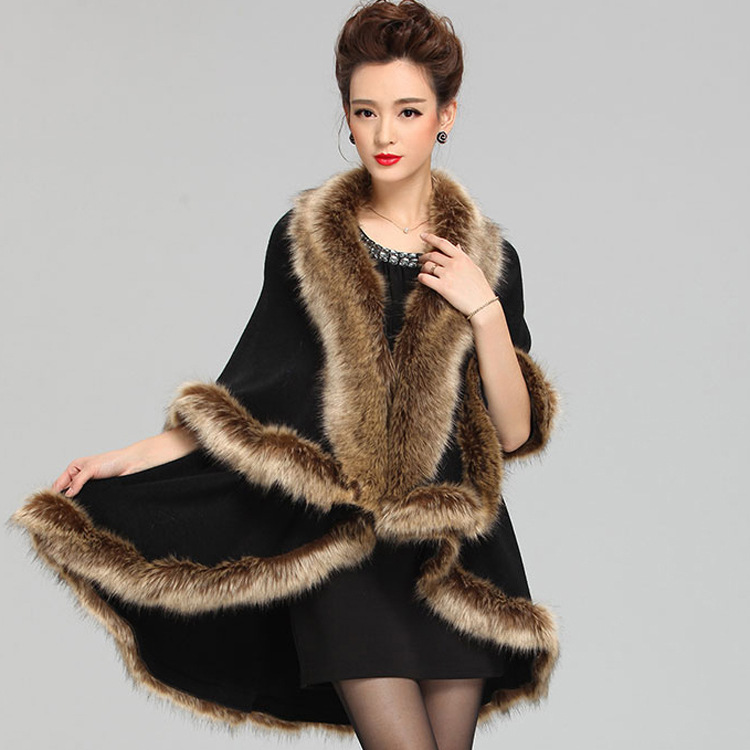 2015 New Fashion Cashmere Imitation Fox Fur Coat  Cardigan Women Poncho  Knitted Sweater Lady Scarves Free Shipping(China (Mainland))