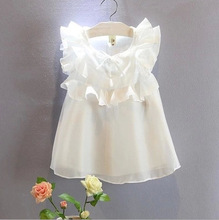 2016 High Quality Summer Girl Clothes Princess Chiffon Blouse