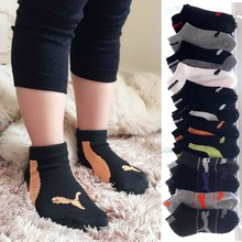 4-9 years old high quality Spring Autumn Winter cotton kids solid color sport sock for student teenage(China (Mainland))