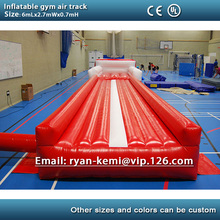 Free shipping 6m 20ft inflatable air track inflatable tumble track gymnastics inflatable air mat for gym(China (Mainland))