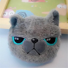 Cute Candy Purses Creative Food Donut ball Animal shape Toy Small Storage Pouch Men Black Cat Coin Purse For Boy Carteras Mujer(China (Mainland))