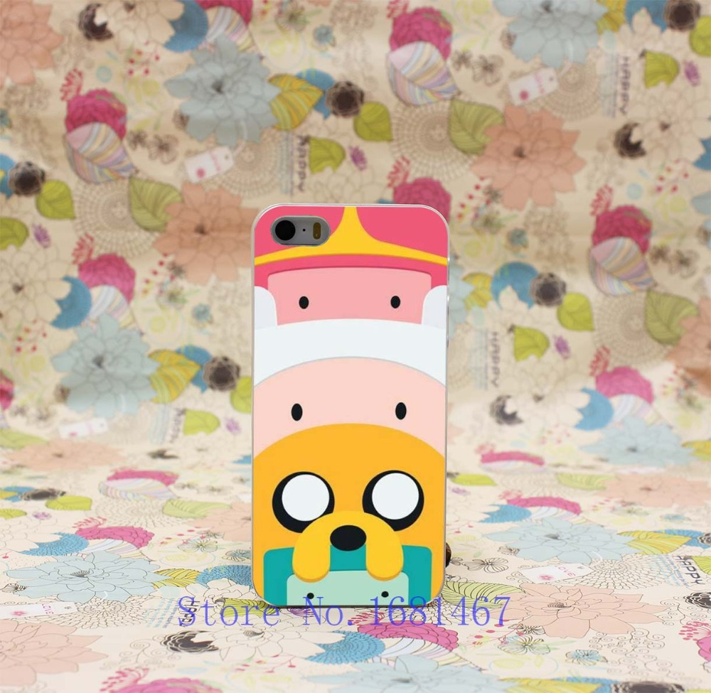 Adventure Time with Finn and Jake Design Transparent Hard Clear Cover Case for iPhone 5 5s 5g(China (Mainland))