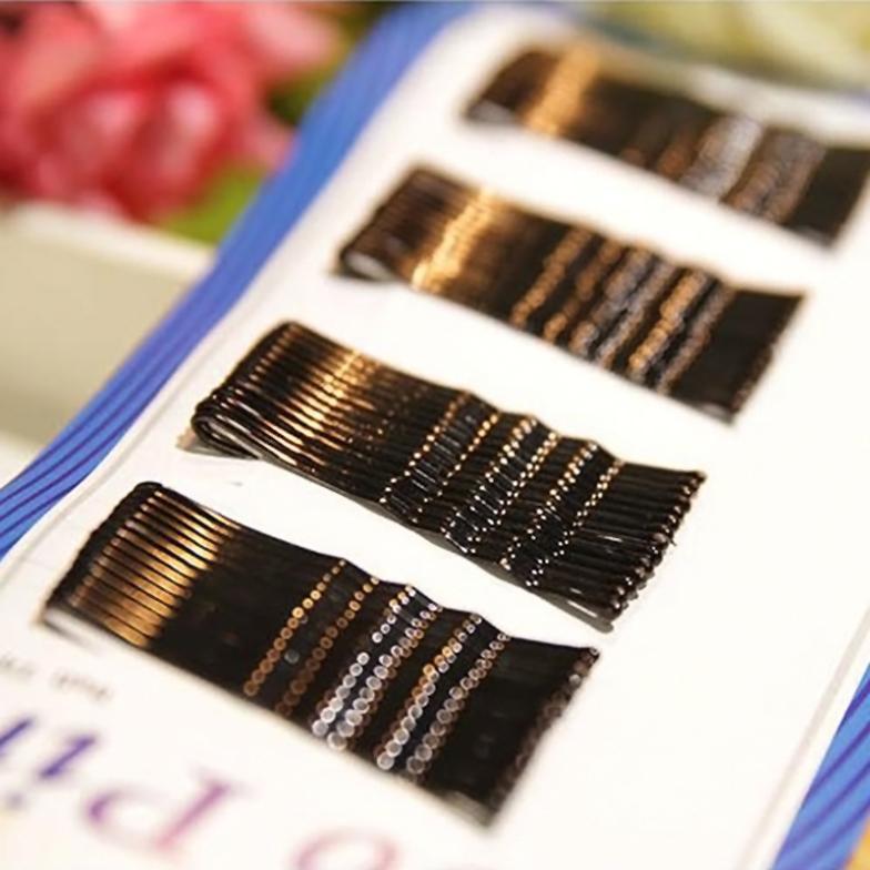 1set BLACK invisible Hair Clips Flat Top Bobby Pins Grips Salon Barrette # EC006<br><br>Aliexpress