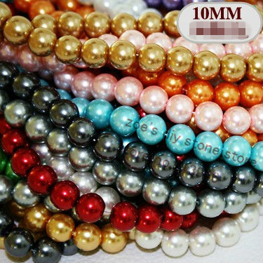 (Min order $10) 8 strands/Pack MIX Colors Glass Pearl Loose Bead Jewelry Beads Fit Earring &amp; Bracelet &amp; Necklace<br><br>Aliexpress