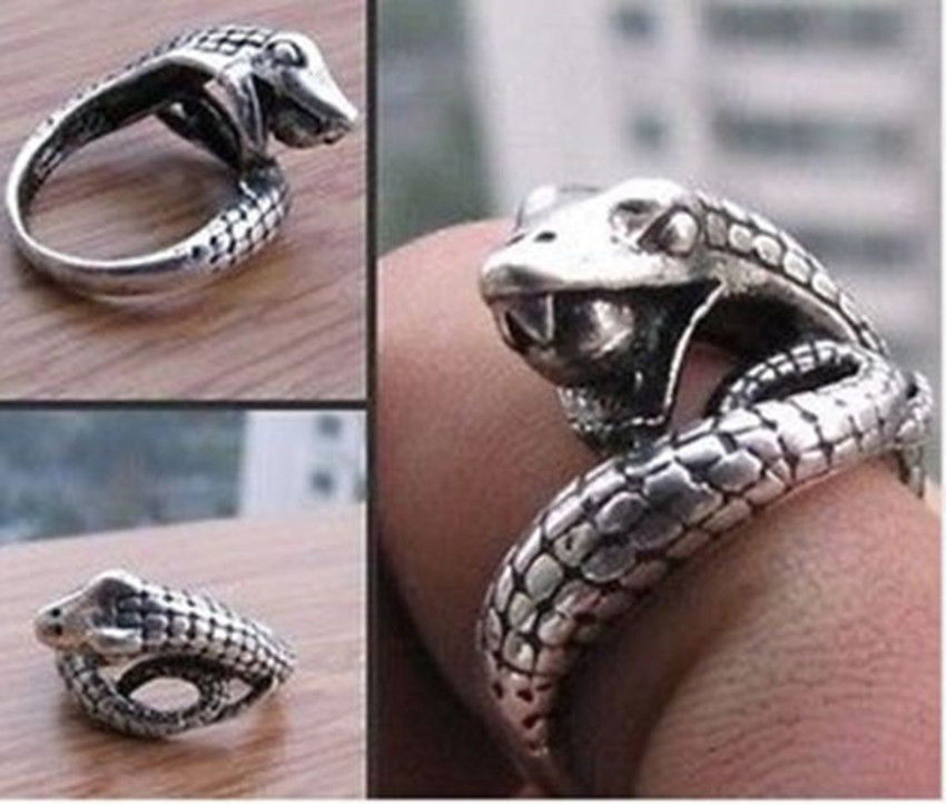 Wholesale Cheap Tribal jewelry Tibet silver carved snake Women/Man ring / Free Shipping(China (Mainland))