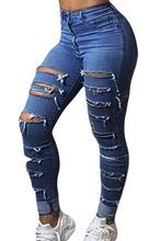 Cheap Shredded Jeans