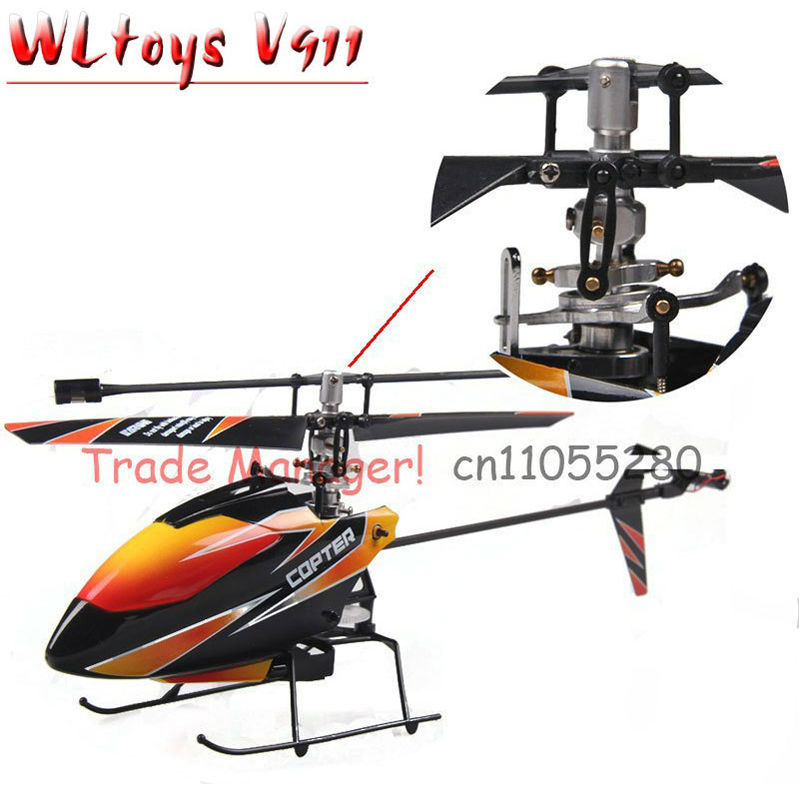 Free shipping Upgrade metal aluminum V911 2.4G 4CH rc helicopter Outdoor V911 wl toy rc toys gift v911-1(China (Mainland))
