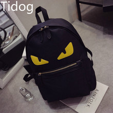 Tidog 2016 the new Europe and the United States fan little monsters backpack female backpack travel bag(China (Mainland))