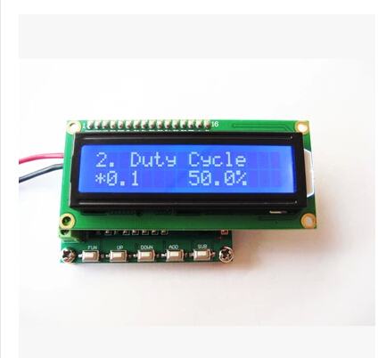 Free Shipping! 1pc Multifunctional adjustable pulse generator output phase two servo control signal frequency meter(China (Mainland))