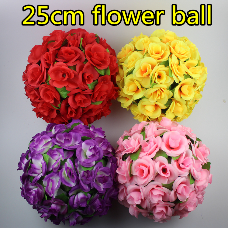 25cm Artificial Flowers Decorations Flower Ball Wedding Supplies Rose Bouquet Mall Store Decorative Hanging - Greenstyles store