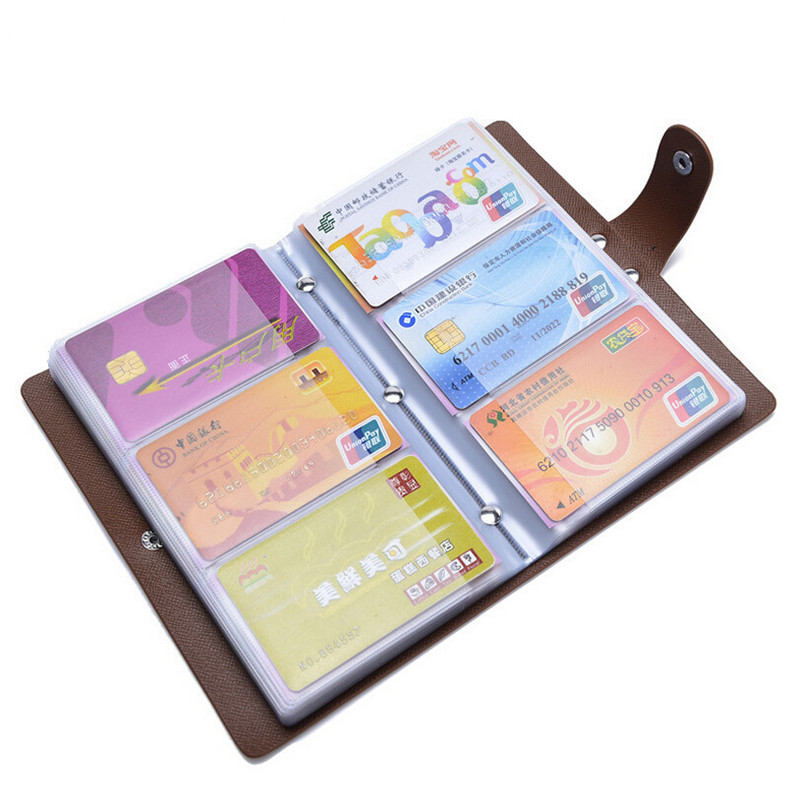 New Fashion 96 cards PVC men's credit card bag Large capacity business name ID Credit Card Holder Keeper Organizer JM-01268(China (Mainland))