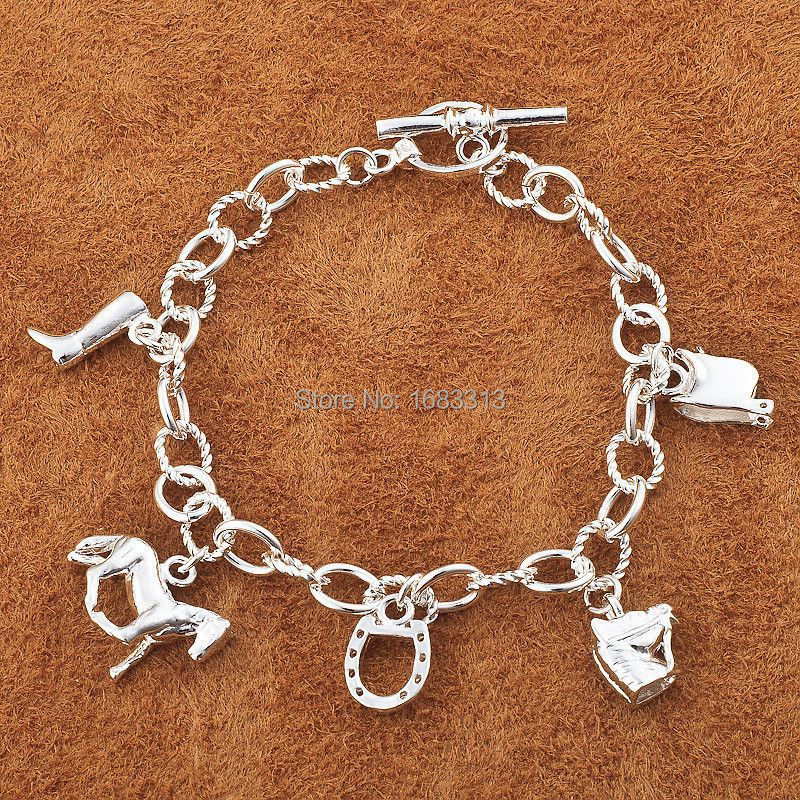 H074 /silver horse bracelet,fashion jewelry, trendy chain,wholesale,Nickle free antiallergic ,factory price(China (Mainland))
