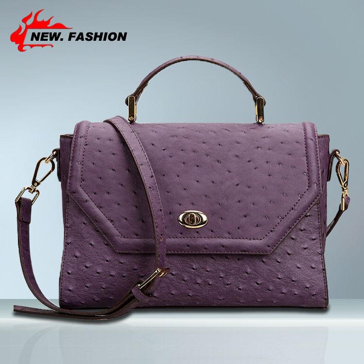 Brand New Retro Dot Women Real Genuine Leather Handbag Messenger Bag Satchel Tote Orange Black Pink Purple Color 151958(China (Mainland))
