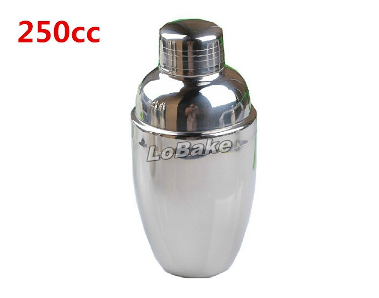 250cc thickened cocktail shaker stainless steel protein shaker bottles milk shaker for bar tools and equipments(China (Mainland))