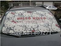 2015 New Auto Car Cover Car accessory Hello Kitty Aluminium Foi Car Sun shade Front Window Covers